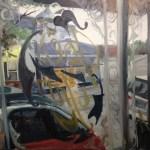 "Original Oil Painting-Scenes of Richmond: ""Shields Market in a Summer Shower as seen from inside Joe's Inn"" Oil on Canvas, 30"" x 24"""