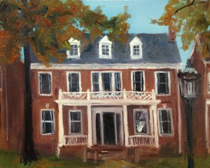 "Original Oil Paintings-House Portraits: ""3311 Franklin Avenue, 1960's"" Oil on canvas, 16"" x 20"""