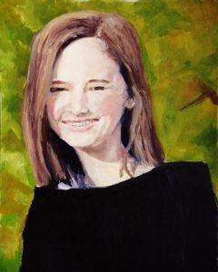 """Original Oil Painting-Portraits: """"Untitled Portrait"""" Oil on Canvas, 20""""x16"""""""