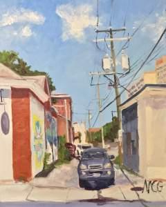 Original Oil Painting: Harrison Street Alley