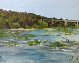 "Original Oil Painting: ""View From the Nickel Bridge"""