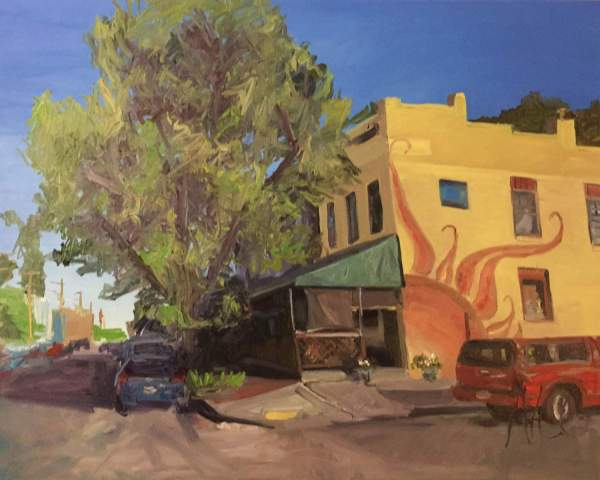 Original Oil Painting: Cary Street Cafe, Richmond, VA