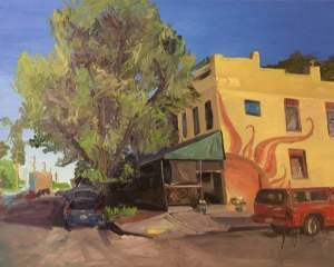 Original Oil Painting: Cary Street Cafe, Richmond, VA