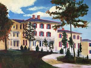 "Original Oil Painting by Natalie Colleen Gates: ""Old Bon Air Hotel"""