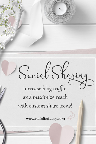 Increase blog traffic and maximize reach by adding and customizing social media sharing options in WordPress! - Natalie Ducey