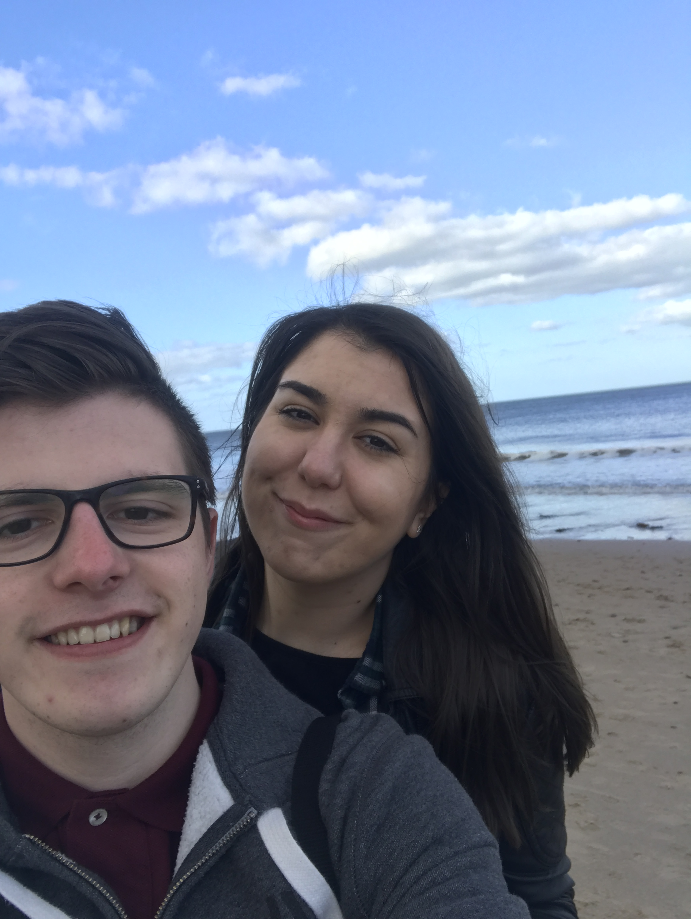 Adam and I on Whitley Bay Beach