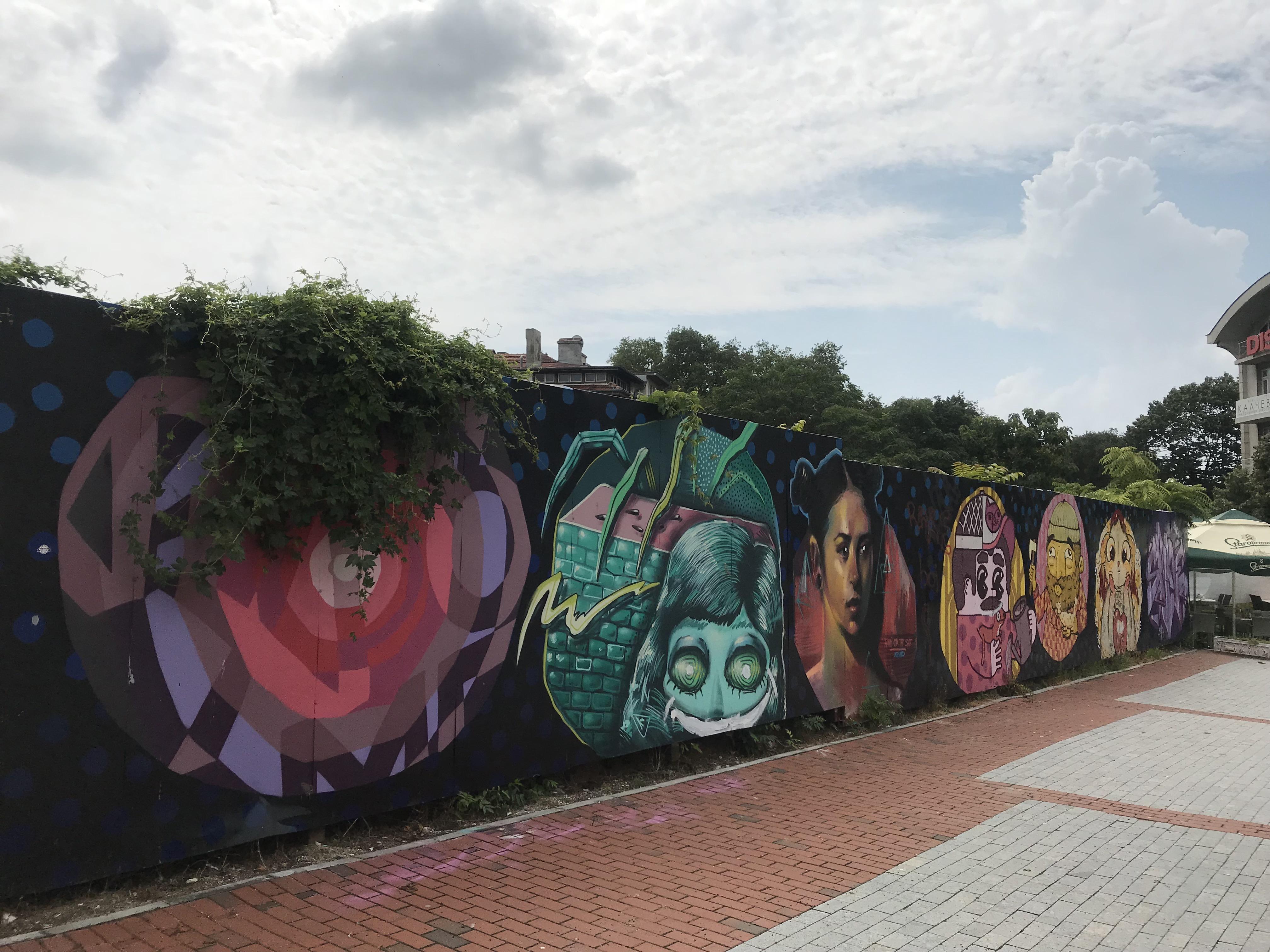street art in Varna, Bulgaria