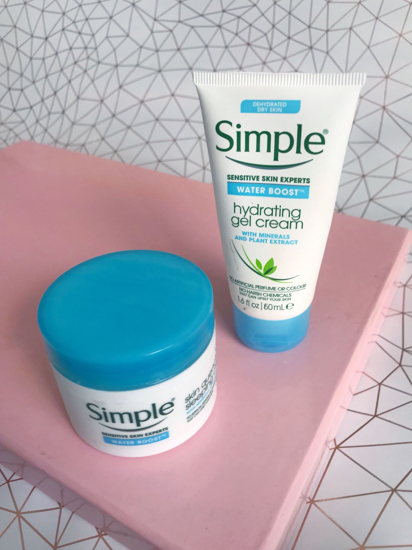 Simple Water Boost skincare range