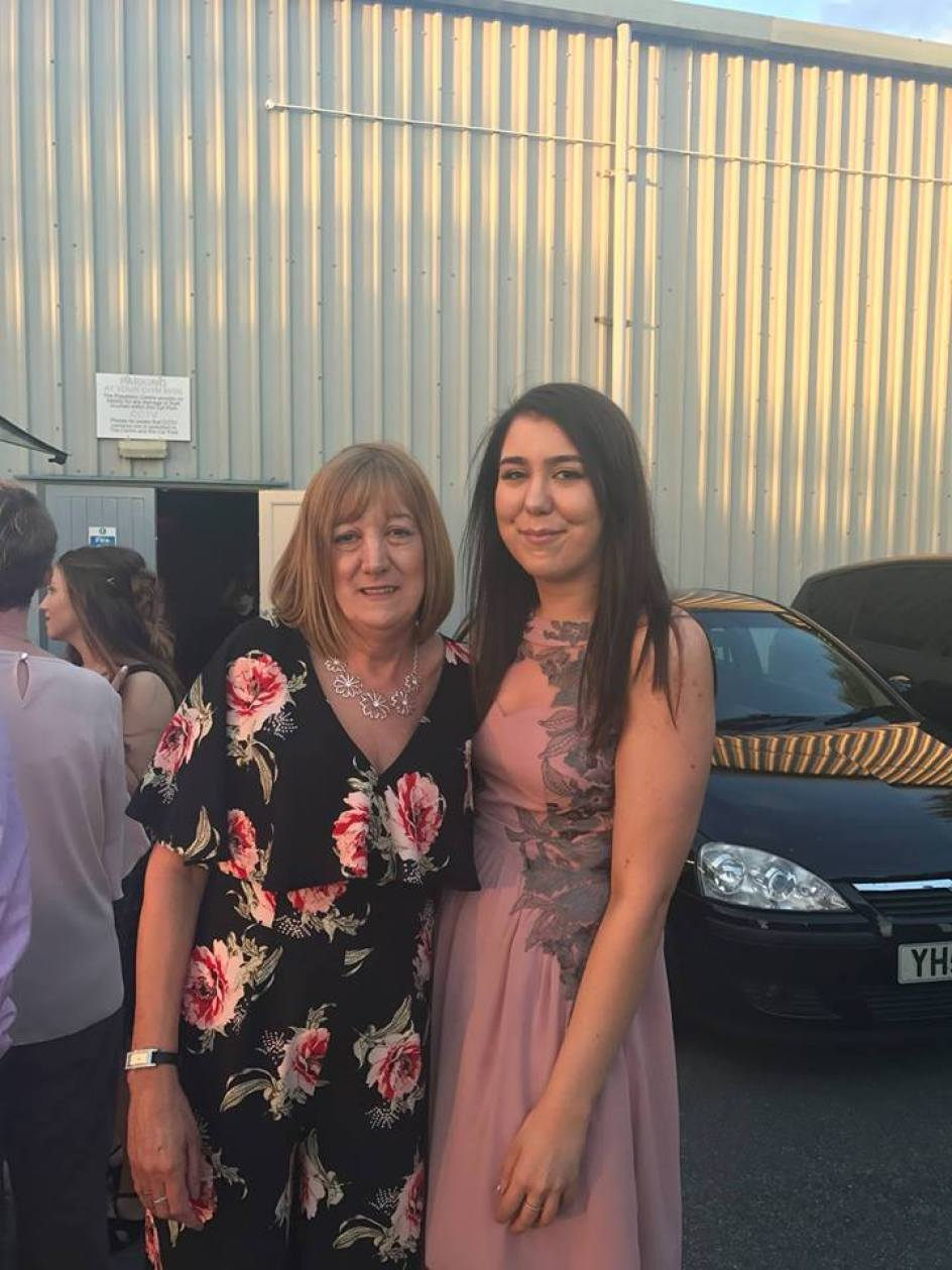 Mum and I at a wedding in York