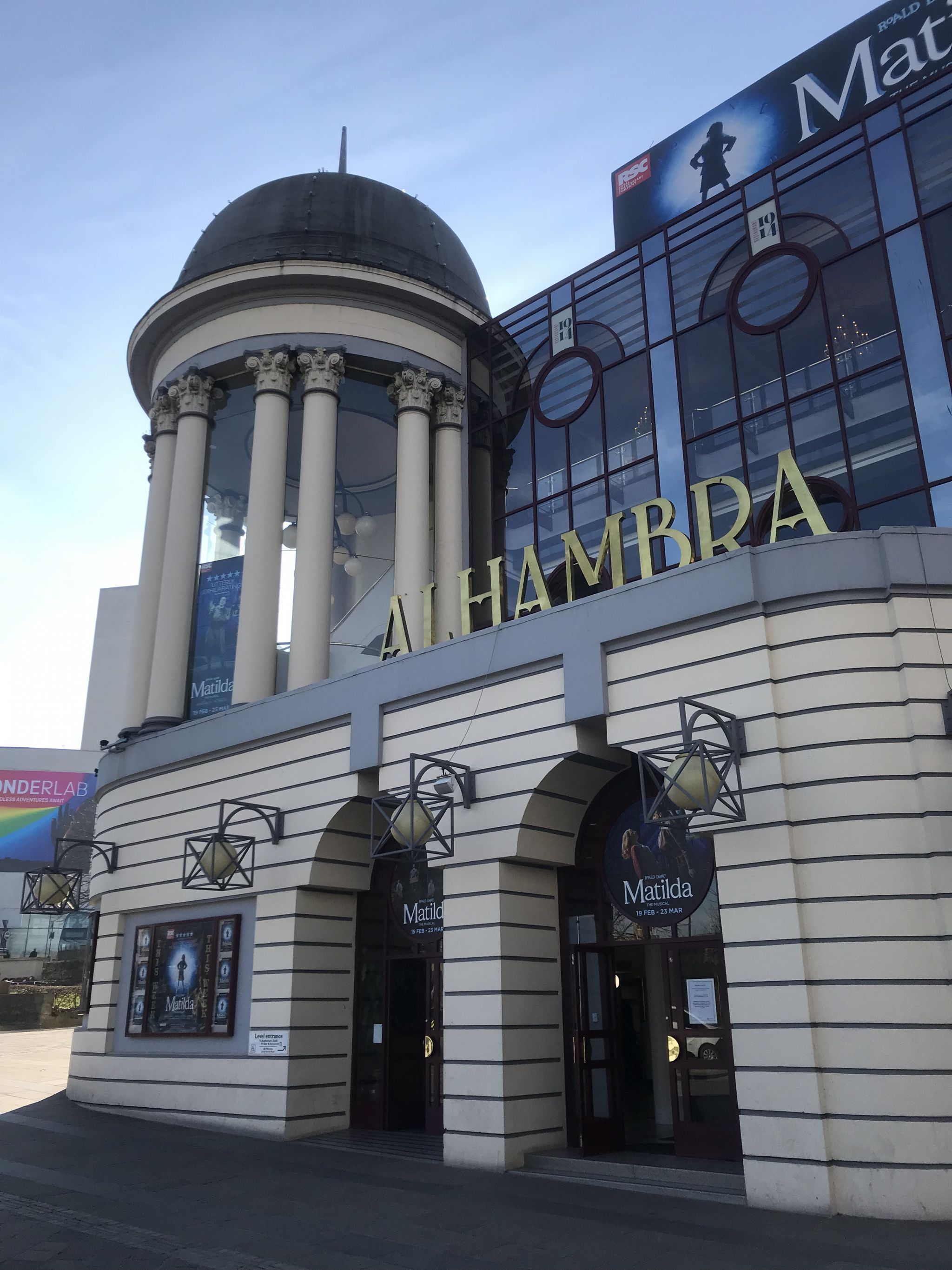 front of Alhambra Theatre, Bradford