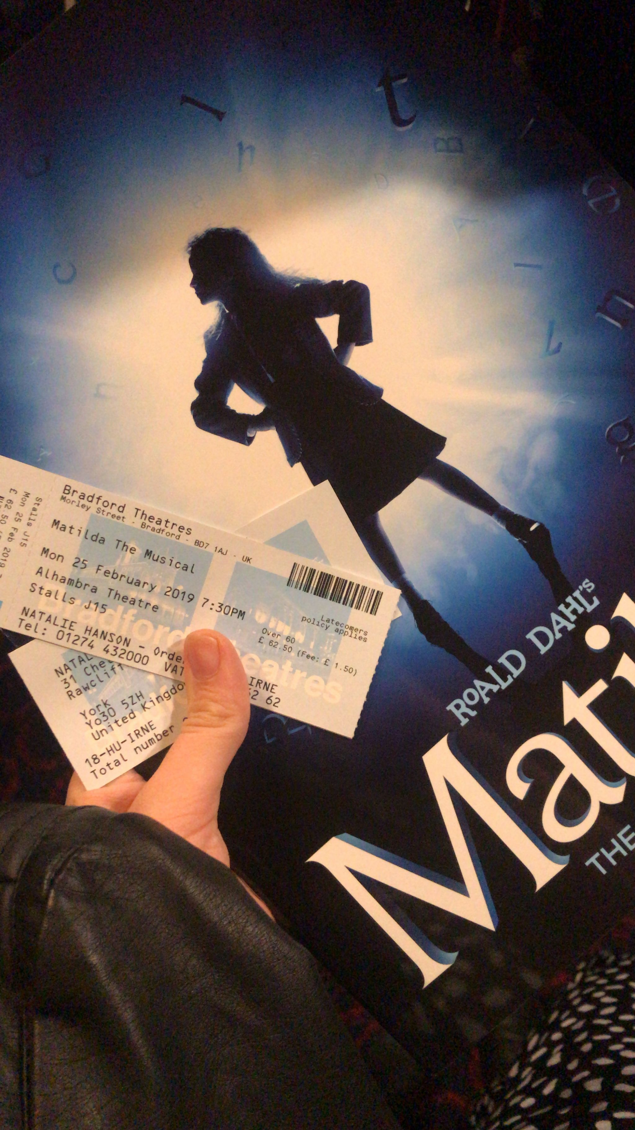 Matilda The Musical programme and tickets
