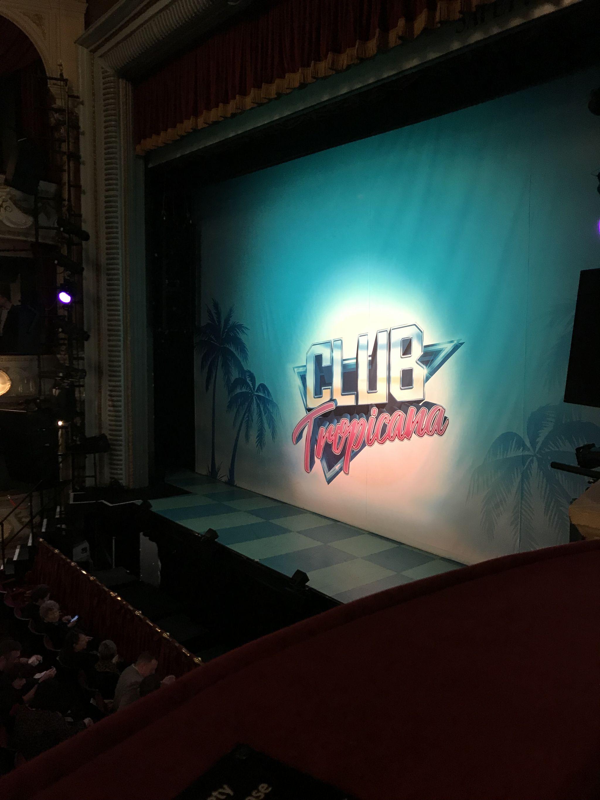 Club Tropicana the Musical theatre curtain