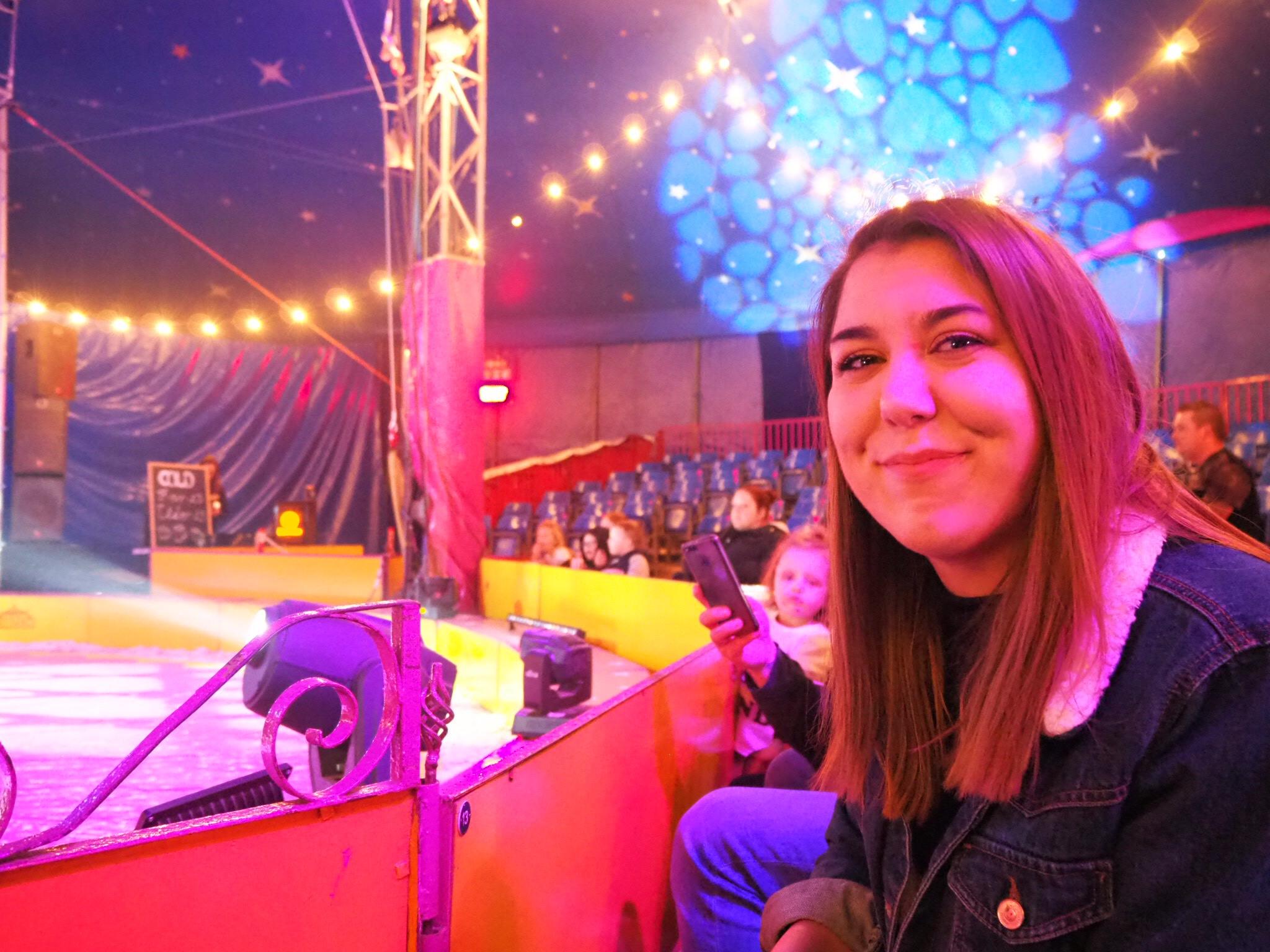 myself at the circus