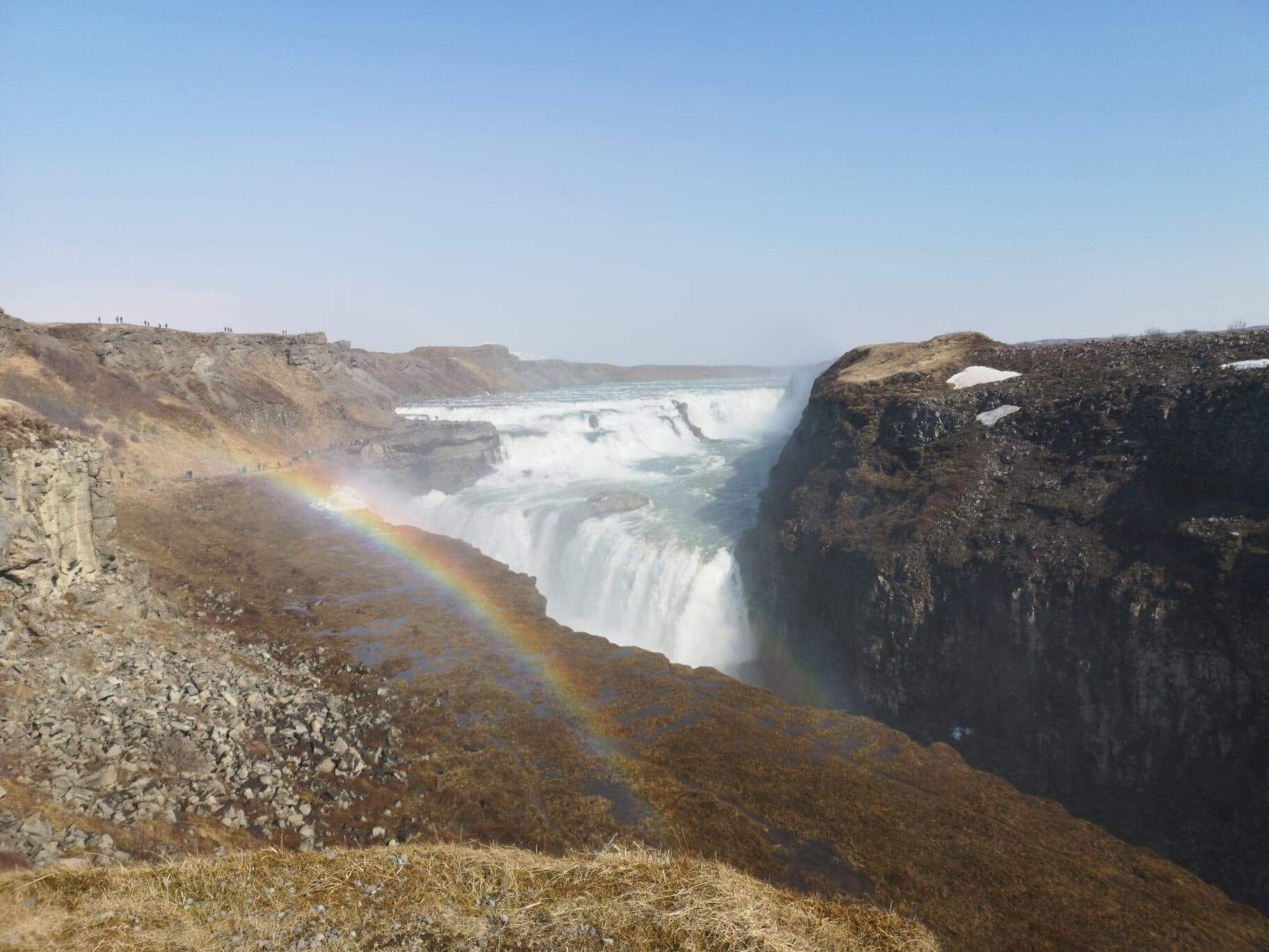 Gullfoss and a rainbow