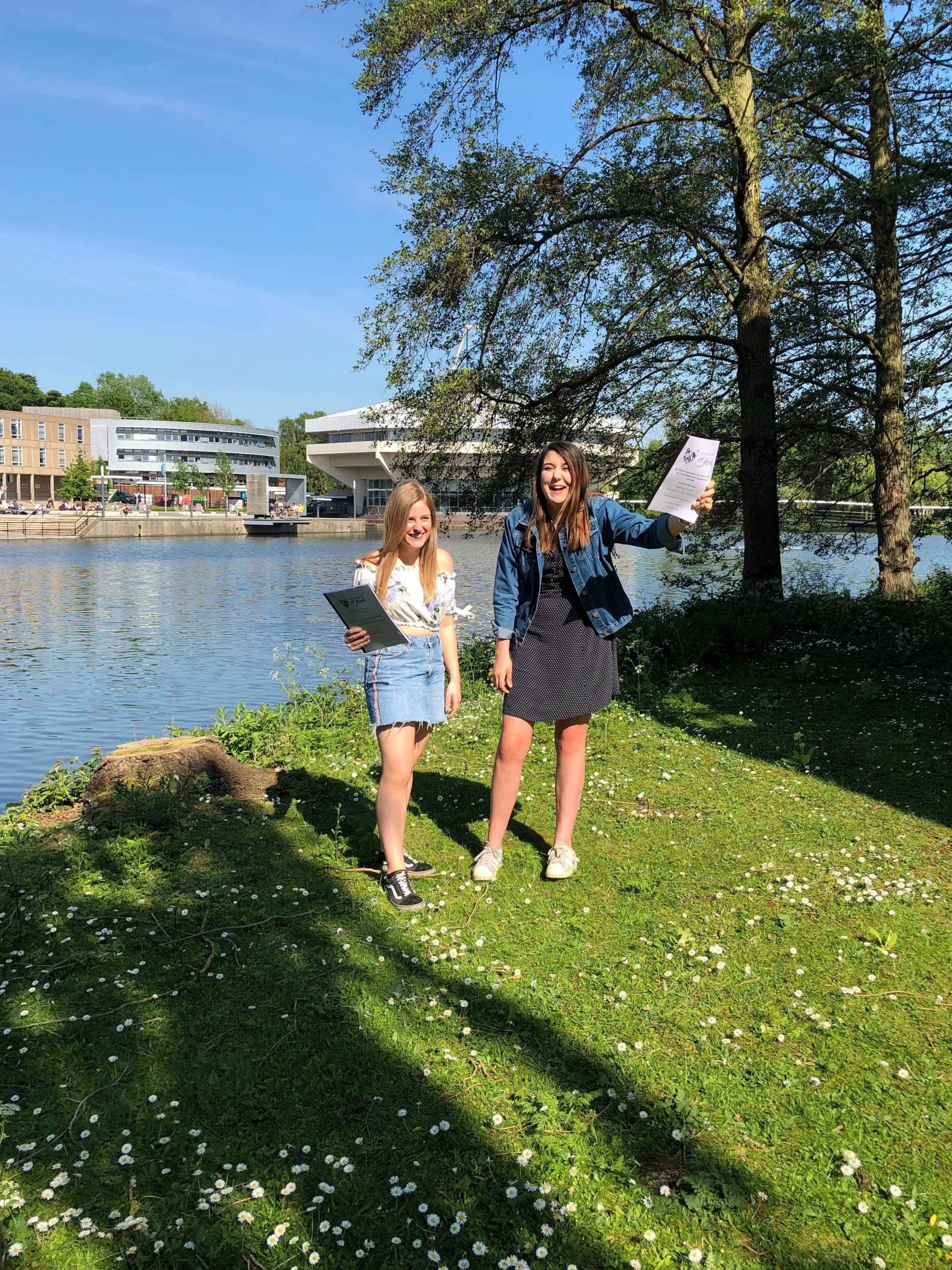laughing girls and dissertation holding