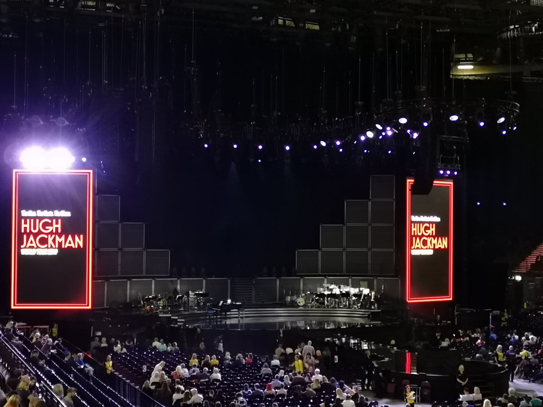 stage before the concert started