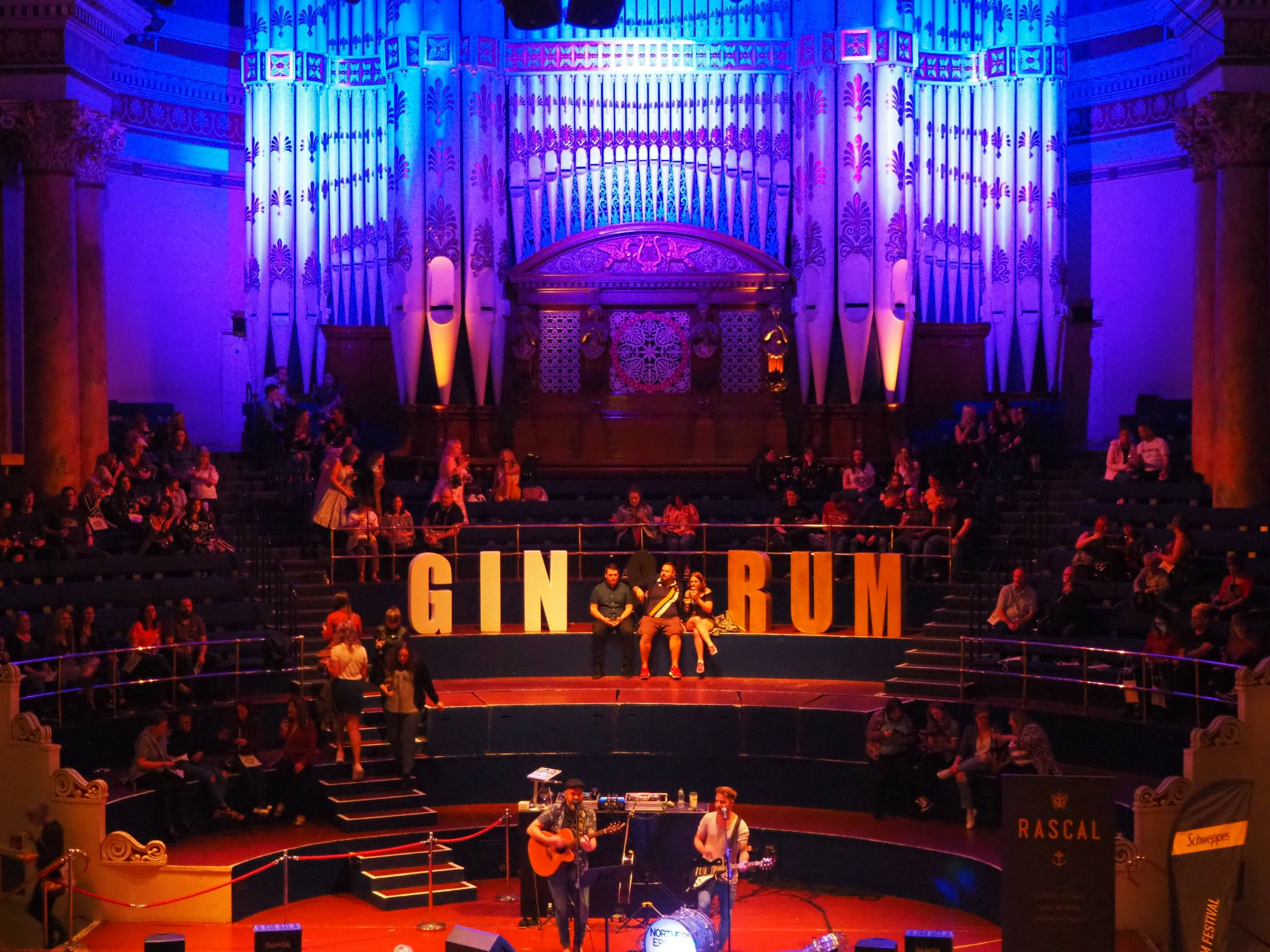 inside the Gin and Rum Festival venue