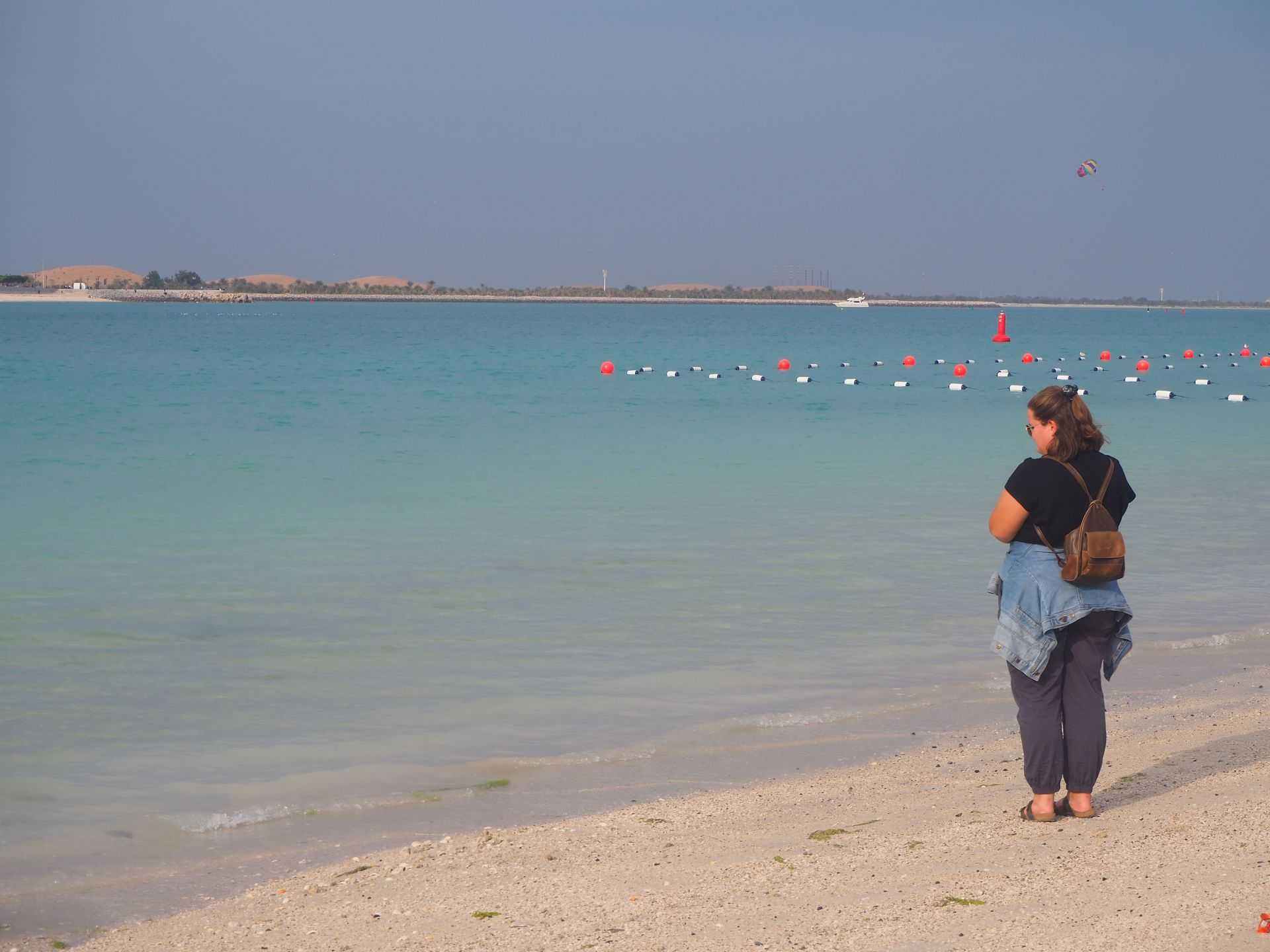 on Abu Dhabi beach
