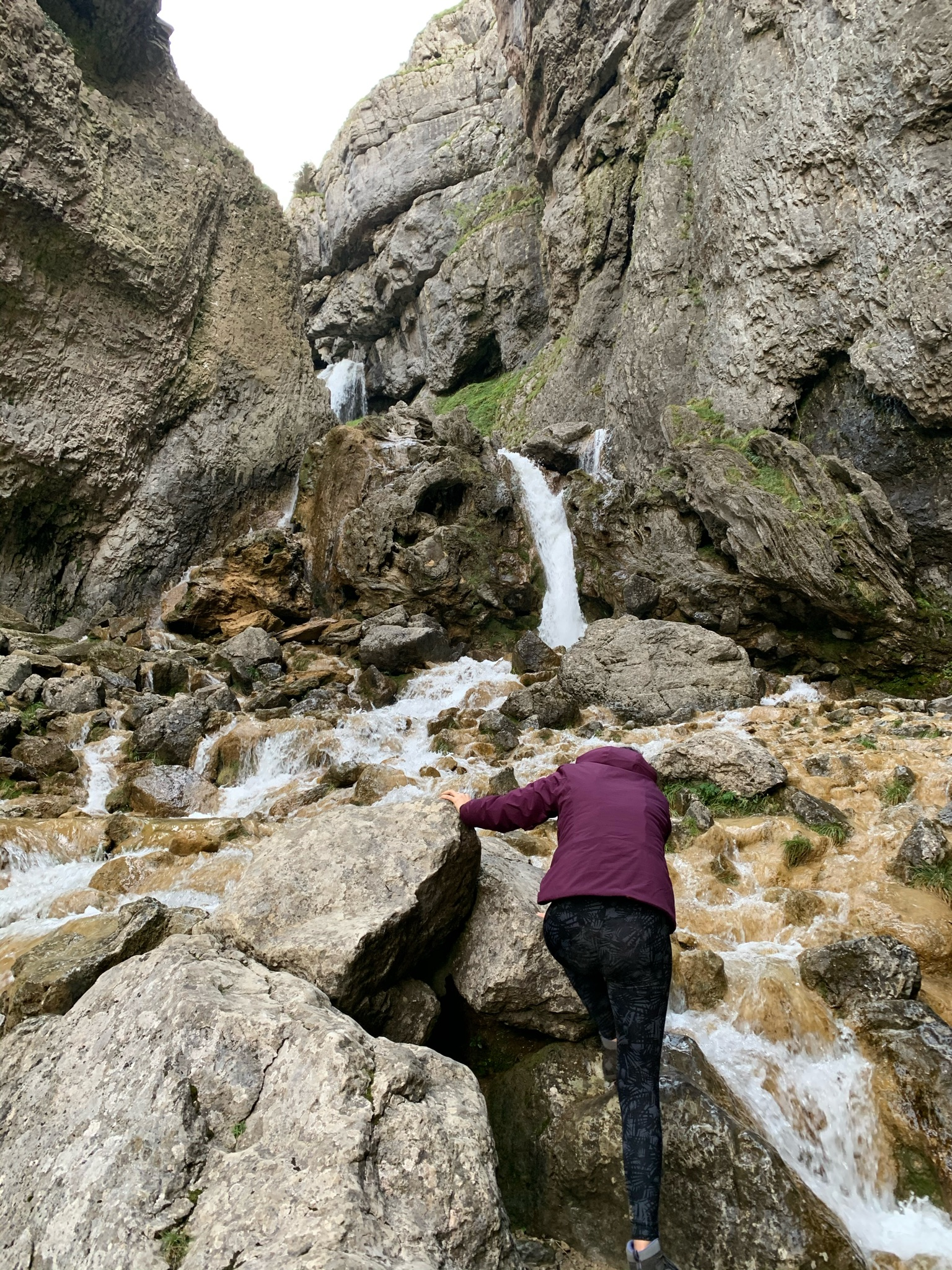 Climbing Gordale Scar in the Yorkshire Dales