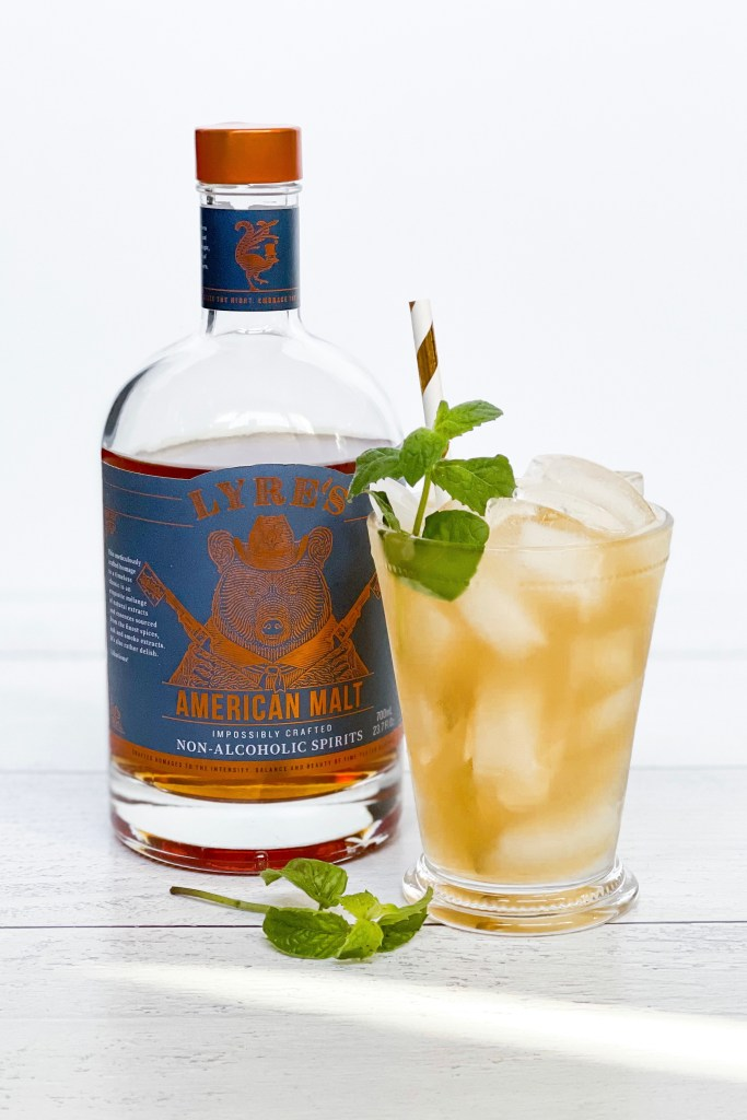Kentucky Derby Party at Home Mint Julep with Lyre's Non-Alcoholic American Malt