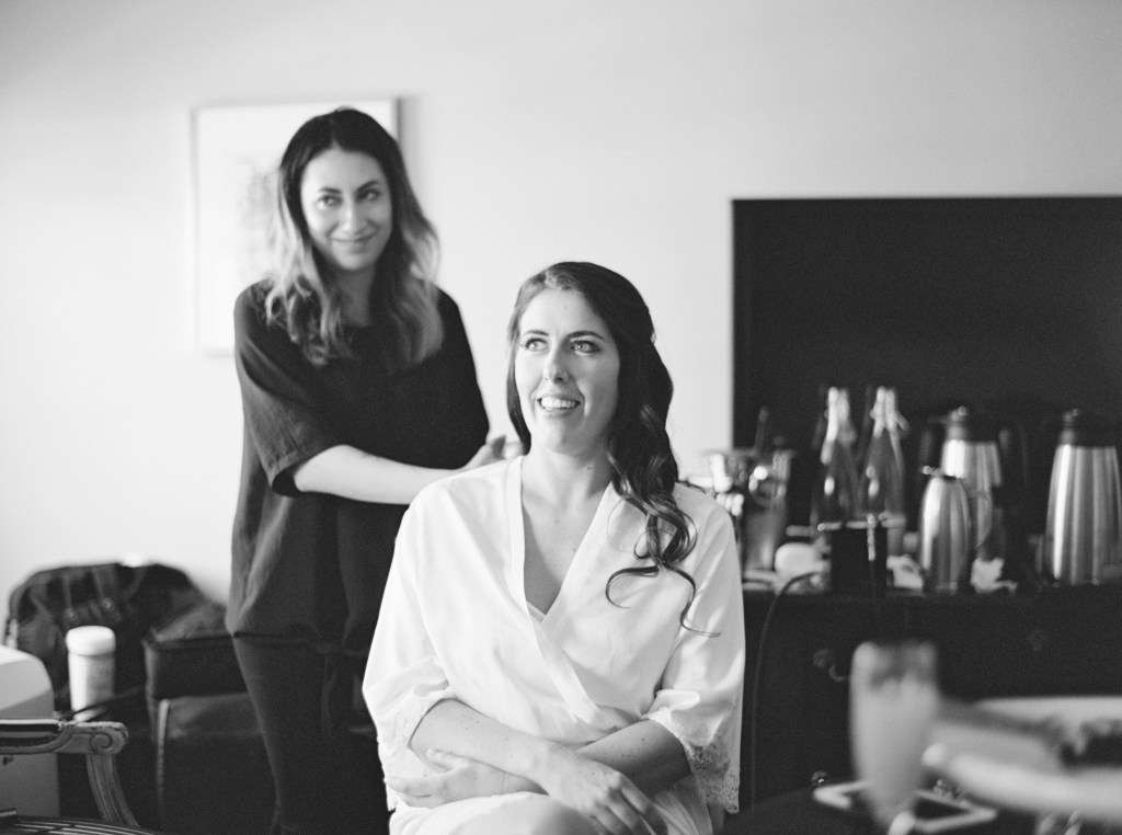 Yessie Libby Seattle Hair and Makeup Artist at Sorrento Hotel wedding venue -- by Blue Rose Photography