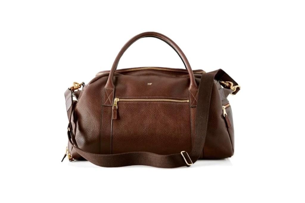 Third Wedding Anniversary Gift Ideas - Leather Overnight Duffle Bag