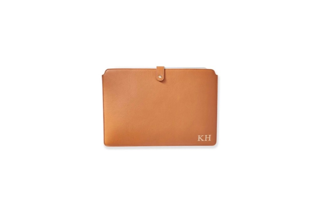 Third Wedding Anniversary Gift Ideas - Leather Laptop Sleeve
