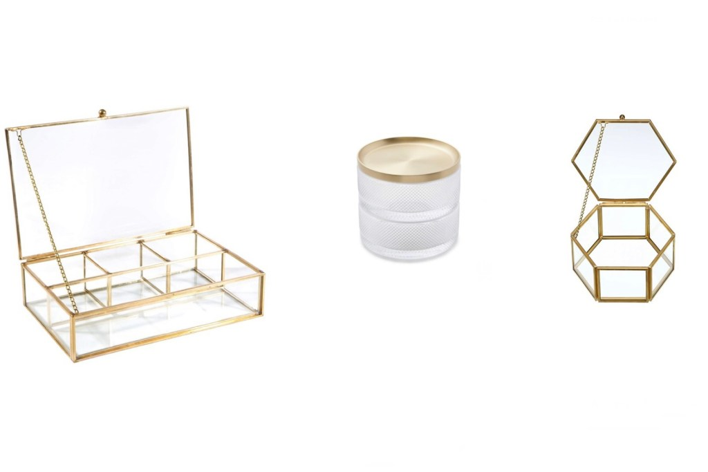 Jewelry Display Boxes - Glass and Brass