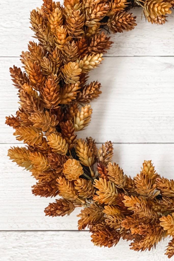Faux Dried Hops Wreath