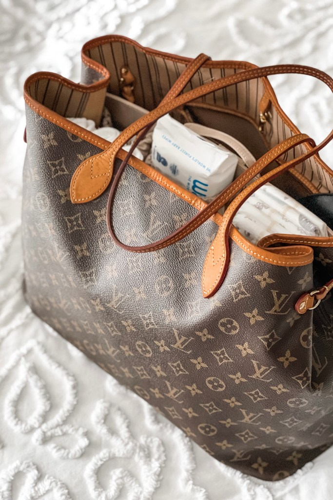 Louis Vuitton Neverfull GM with ToteSavvy diaper bag organizer insert