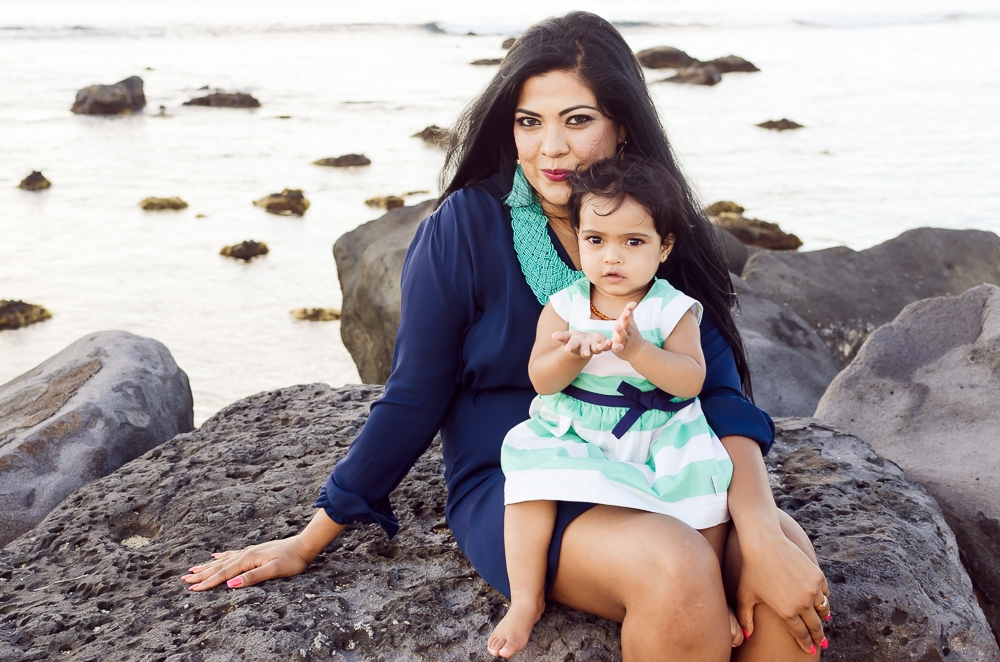 first birthday photo shoot on the beach in mauritius