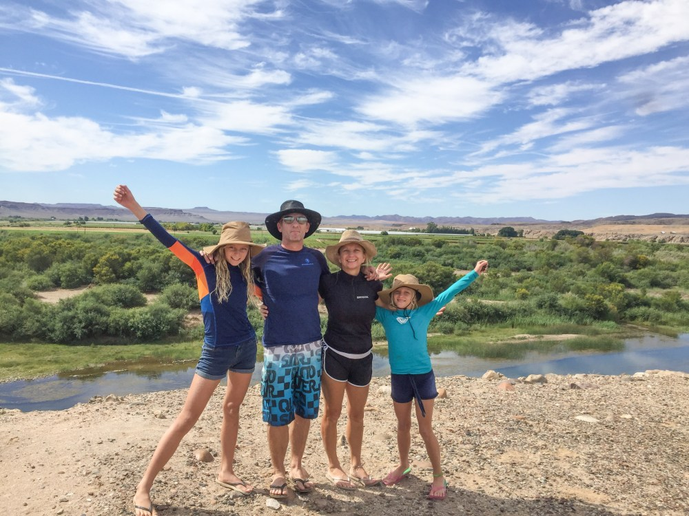 family river rafting trip on the orange river