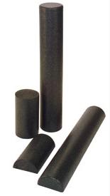 foam roller black - natalie jill
