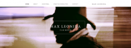 Film maker Max Leonida
