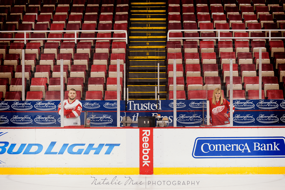 Red Wings engagement photo