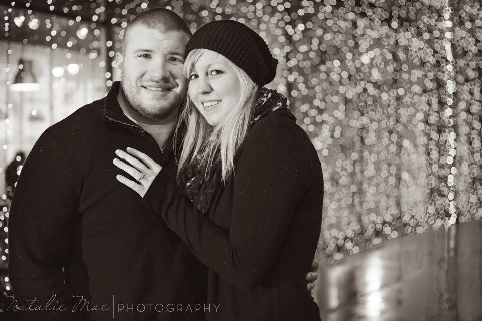 Then back out into the wintry weather for this Detroit engagement session.
