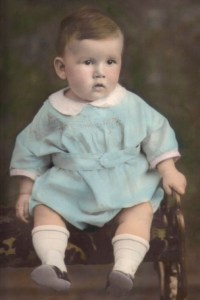 My grandpa at 2 years old in 1931.