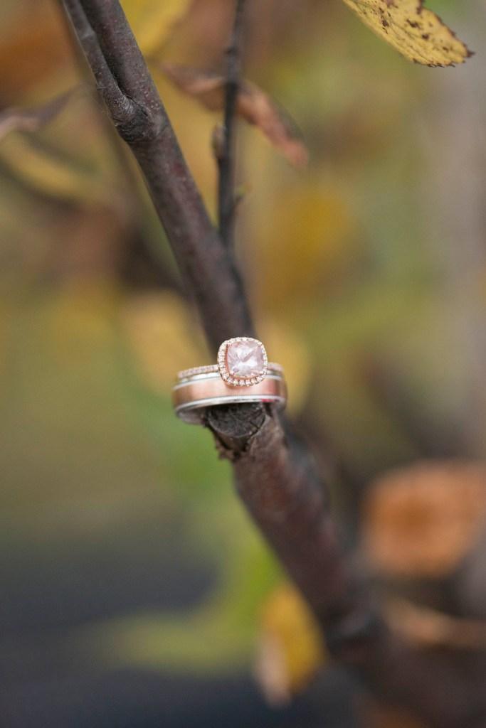 Wedding photographer, Natalie Mae, captures a beautiful rose gold ring