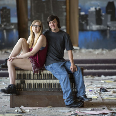 Detroit, Michigan engagement session with