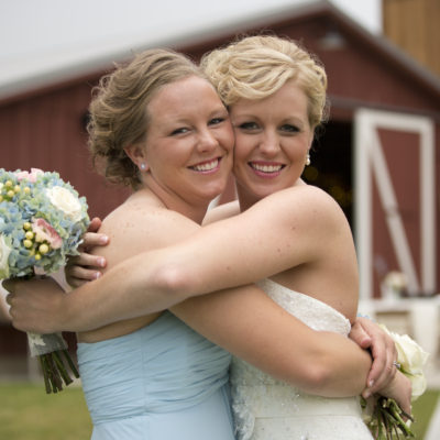 Bride and sister wedding photo - Ann Arbor, Michigan Wedding Photographer