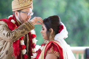 Beautiful Indian bride and groom - Michigan Wedding Photographer