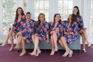 Matching Bridesmaids robes Michigan - Michigan area wedding photographer
