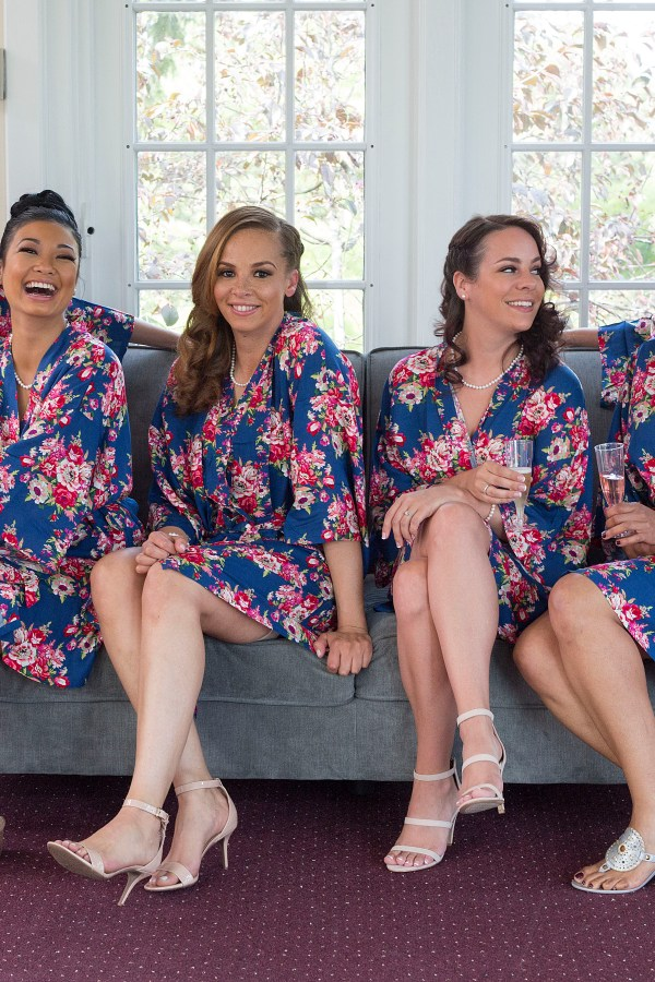 Matching Bridesmaids robes Michigan - Michigan area wedding photographer