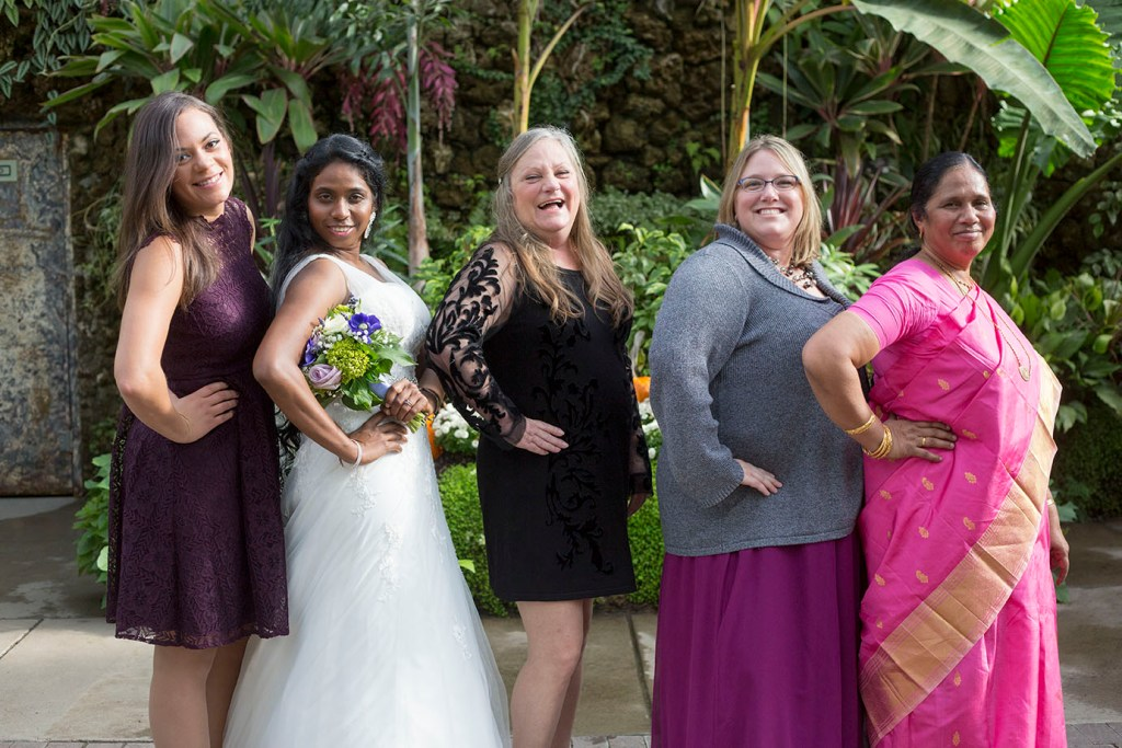 Ladies showing some sass at their Detroit wedding