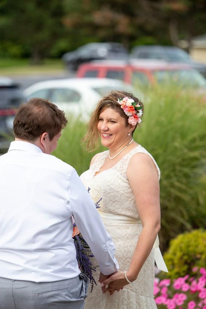 Michigan LGBTQ wedding first look