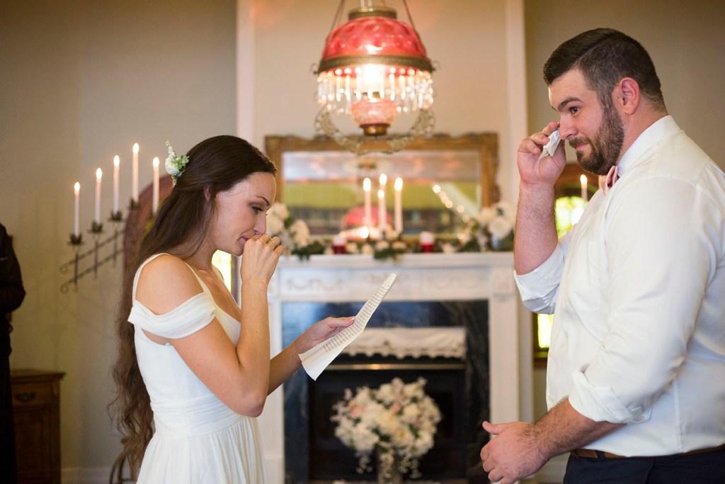 Emotional wedding ceremomu