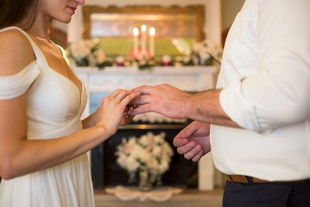 Exchanging of rings at Celebrations Wedding Chapel