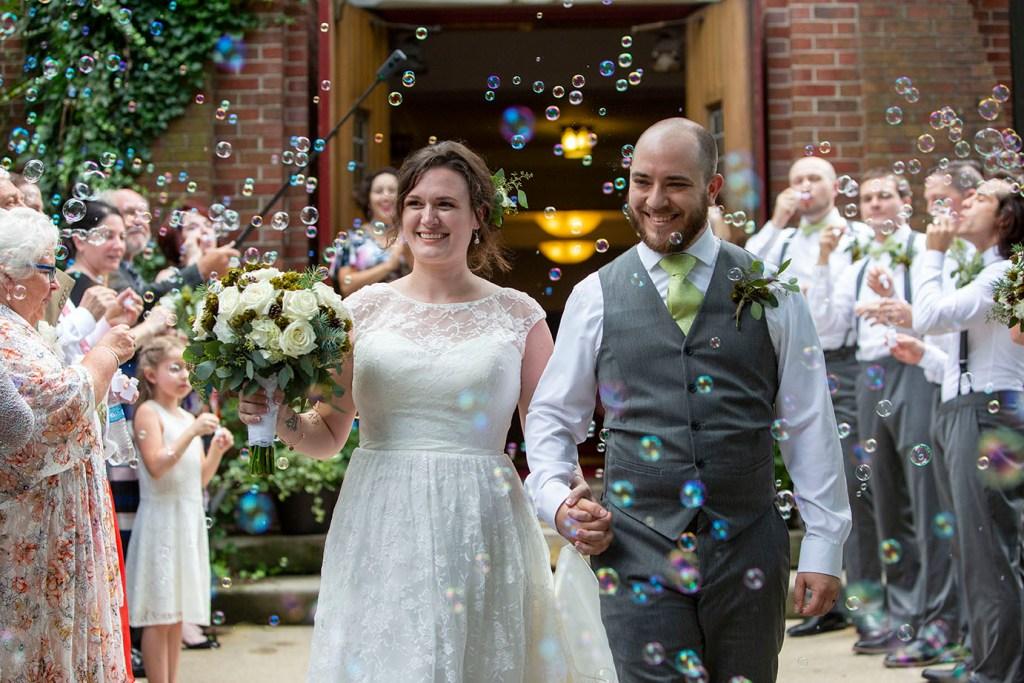 Bubble send off wedding
