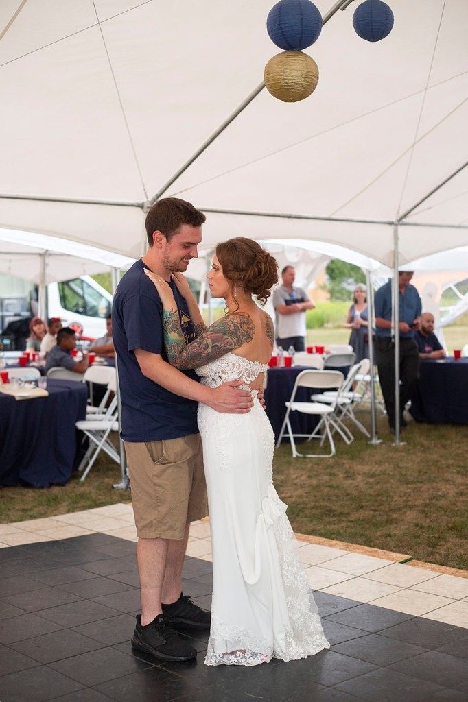 Howell couple's first dance