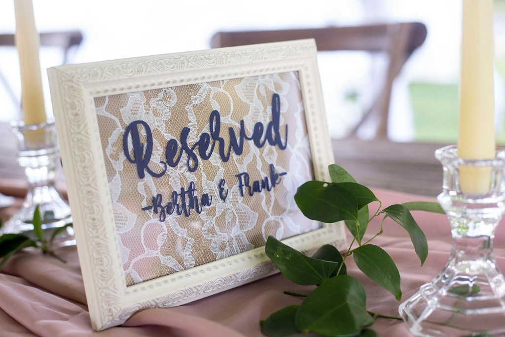 Reserved for grandma and grandpa of the bride
